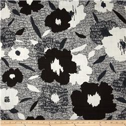 Dwell Studio Carys Floral Slub Ink Fabric