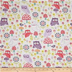 Pippet Moesby Owls & Mushroom White