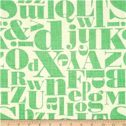 Michael Miller Just My Type Letterpress Mint