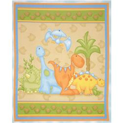 The Land Before Time Flannel Panel Dino Blue