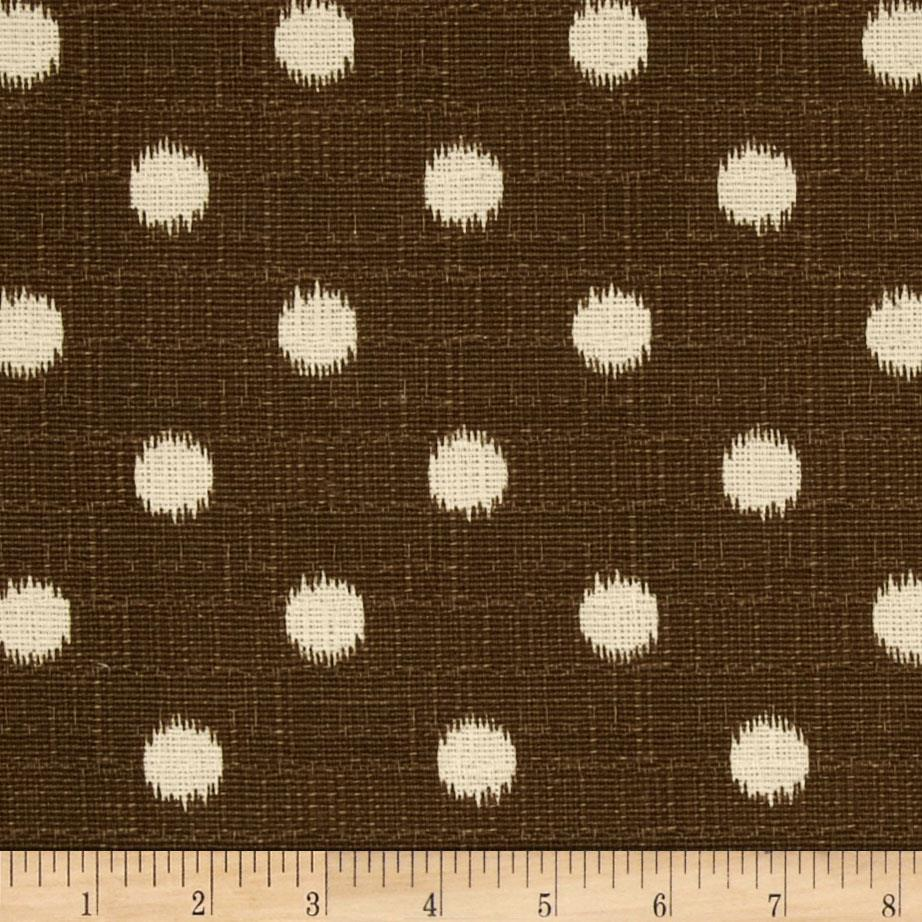 Premier Prints Ikat Dots Natchez Brown/Birch