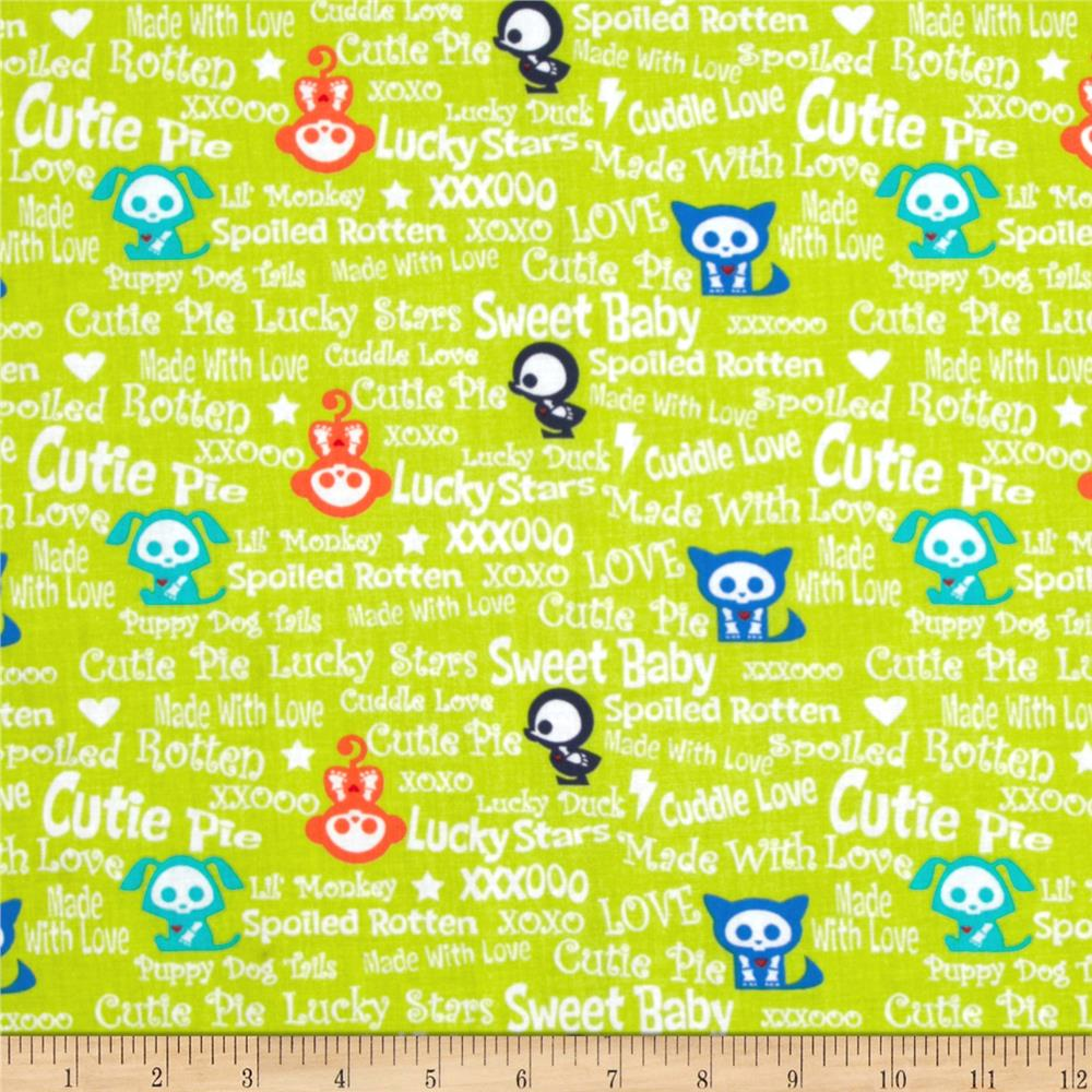 Skelanimals Baby Talk Green