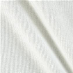 White Collection Interlock Knit Creamy White