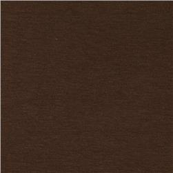 Cotton Spandex Jersey Knit Solid Chocolate