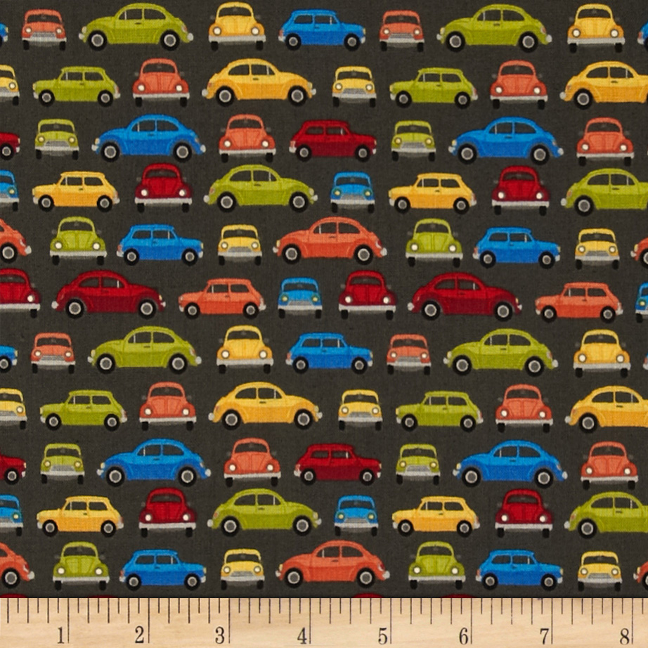 Auto Small Cars Grey Fabric