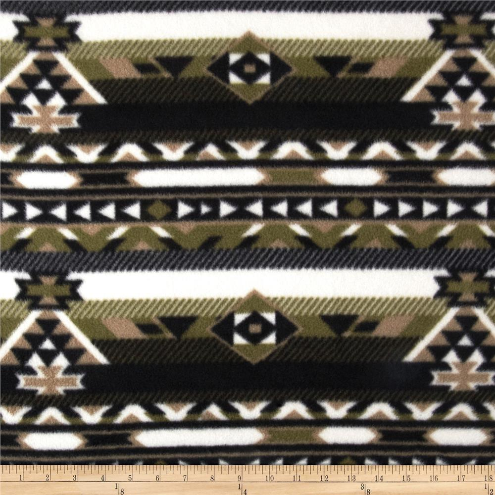 Fleece Azrec Print Black/Olive/Ivory