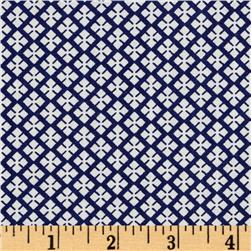 Dots and More Geo Diamonds Navy/White