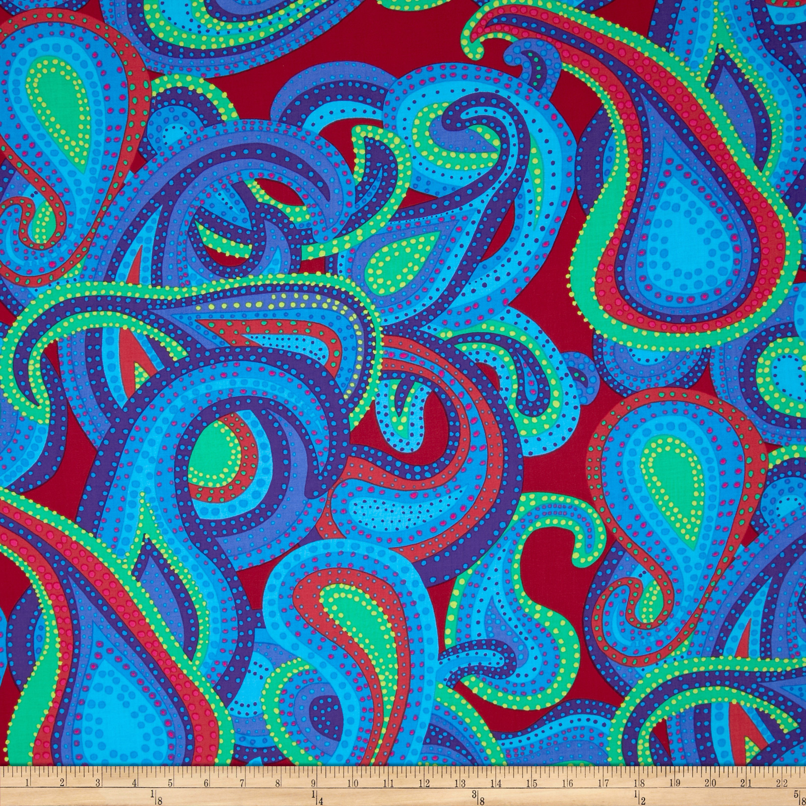 Kaffe Fassett Dancing Paisley Regal