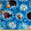 Disney Frozen Fleece Multi-Character Framed Blue