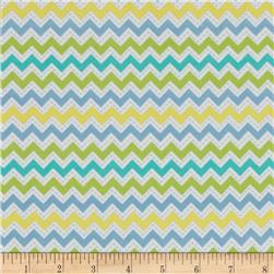 Kimberbell Little One Flannel Too! Flannel Zig Zag Blue