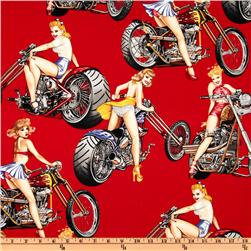 Pin Ups Hot Wheels Red