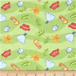 Alpine Flannel Baby Sea Green Fabric