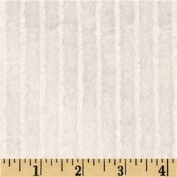 Minky Embossed Ribbon Cuddle White Fabric