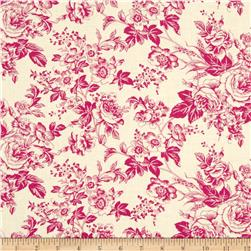 Quartette Collection Large Floral Cream/Pink