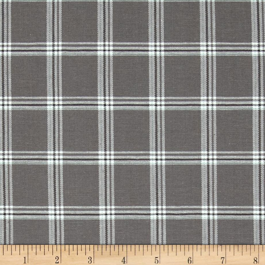 Stretch Suiting Plaid Grey/White