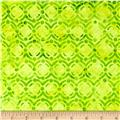 Bali Batiks Handpaint Circle Dots Key Lime