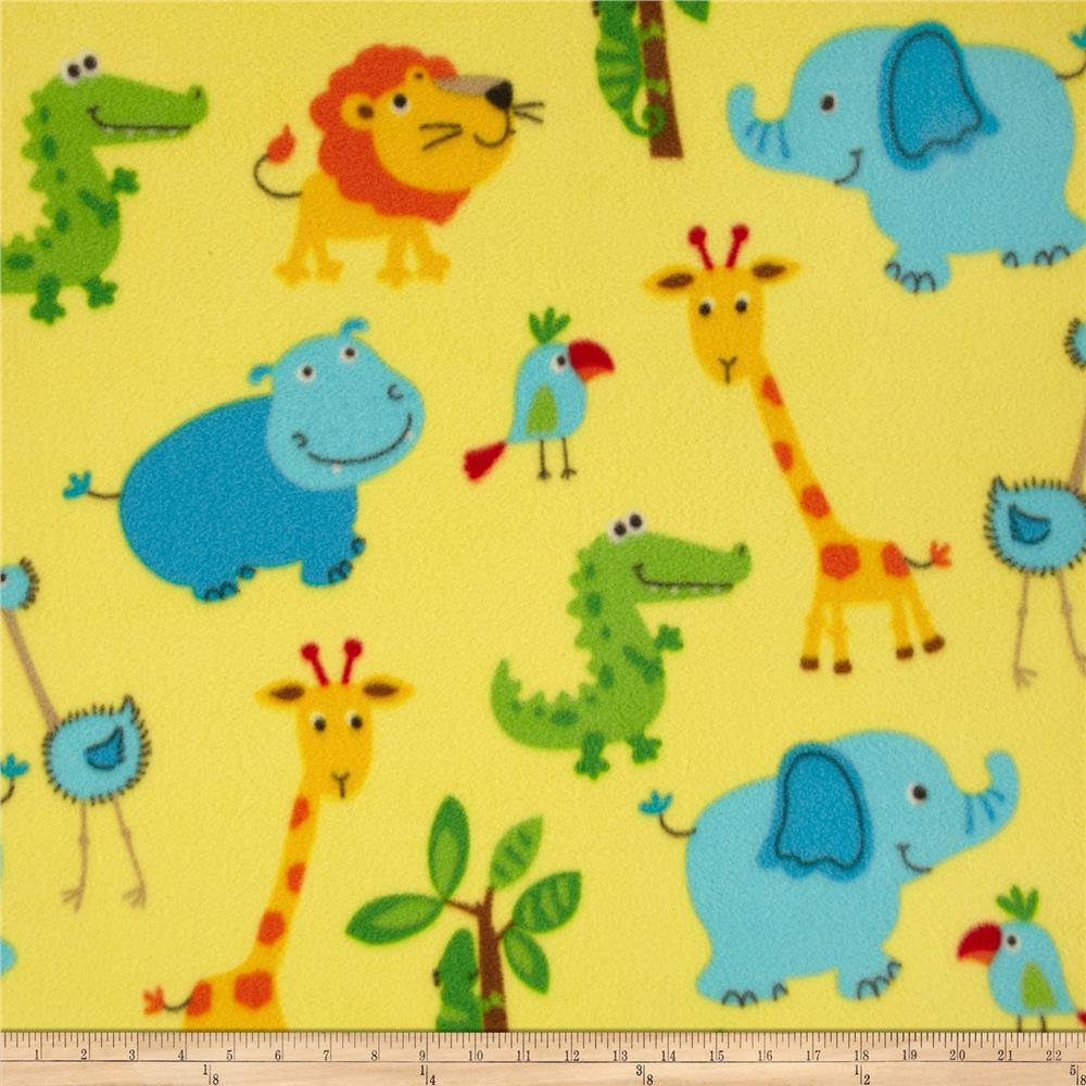 Fleece Baby Animals Yellow