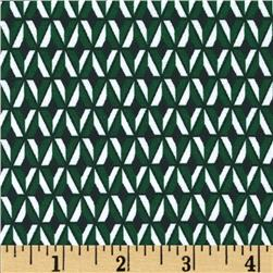 Ponte de Roma Plus Knit Geometric Green Fabric