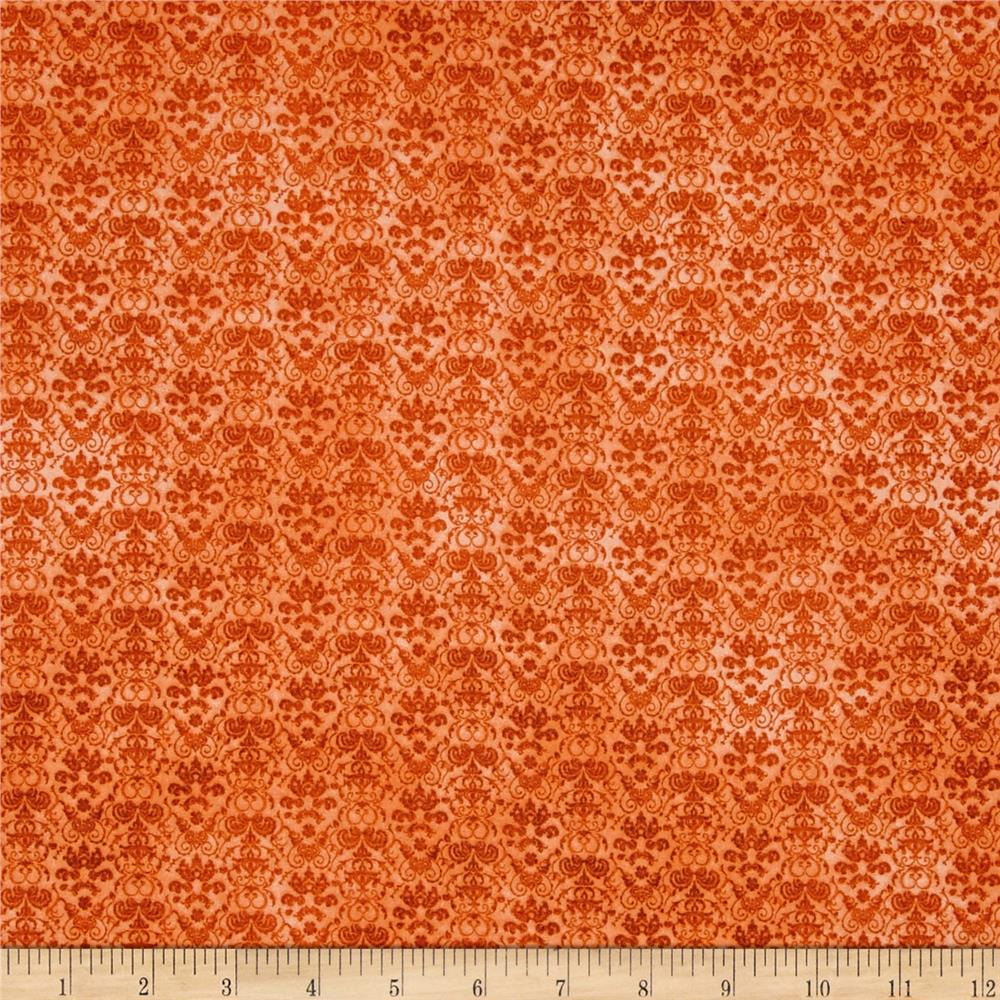 Heartfelt Gorjuss Damask Dark Terracotta