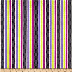 Riley Blake Halloween Parade Stripe Purple