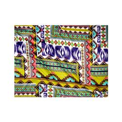 Stretch Sateen Print Aztec Lime