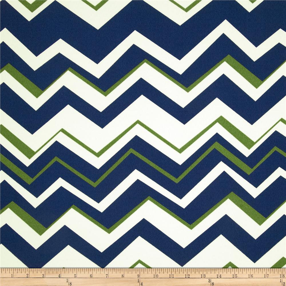 Richloom Solarium Outdoor Tempest Chevron Navy