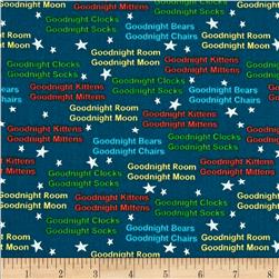 Goodnight Moon Words Navy