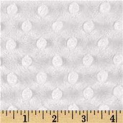 Minky Cuddle Dimple Dot Snow White Fabric