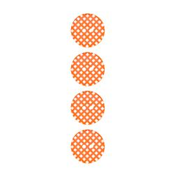 Riley Blake Sew Together 1'' Gingham Button Orange