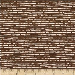 Kaufman Microlife Textures Digital Prints Hash Stripe Brown
