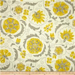 Jaclyn Smith Petite Suzani Blend Lemon Zest Fabric