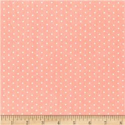 Cloud 9 Organic Tout Petit Interlock Knit Polka Dot Pink