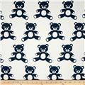Premier Prints Teddy Twill White/Premier Navy
