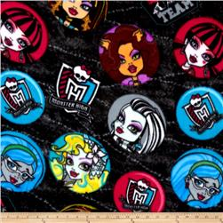 Monster High Fleece Punk Rock Medallions Black