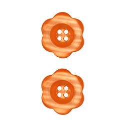 "Riley Blake Sew Together 1 1/2"" Flower Button Orange"