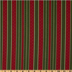 Moda Holiday In The Pines Holiday Stripe Red/Green