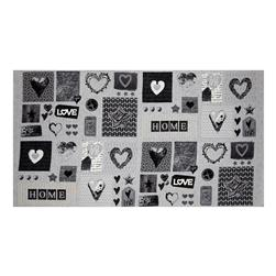 "Cosy Home Love, Heart and Home 24"" Panel Gray"