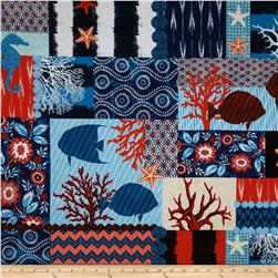 Michael Miller Indigo Ikat Collage Indigo Fabric