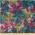 Indian Batiks Dogwood Teal/Plum