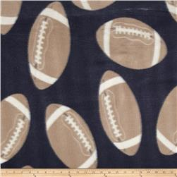 Printed Fleece Footballs Navy