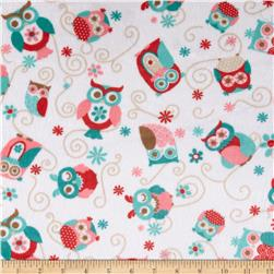 Adorn-it Minky Cuddle Nested Owls Coral