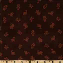 Timeless Treasures Flower Power 21 Wale Corduroy Tonal