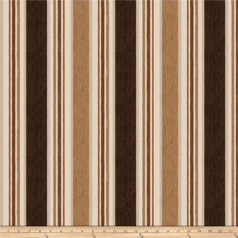 Fabricut Casa Stripe Chenille French Roast