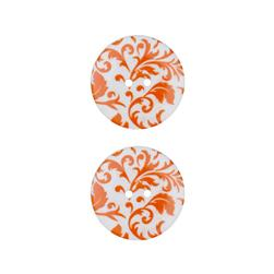 Dill Novelty Button 1'' Flourish Orange