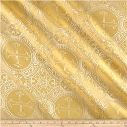 Clergy Brocade Gold/White