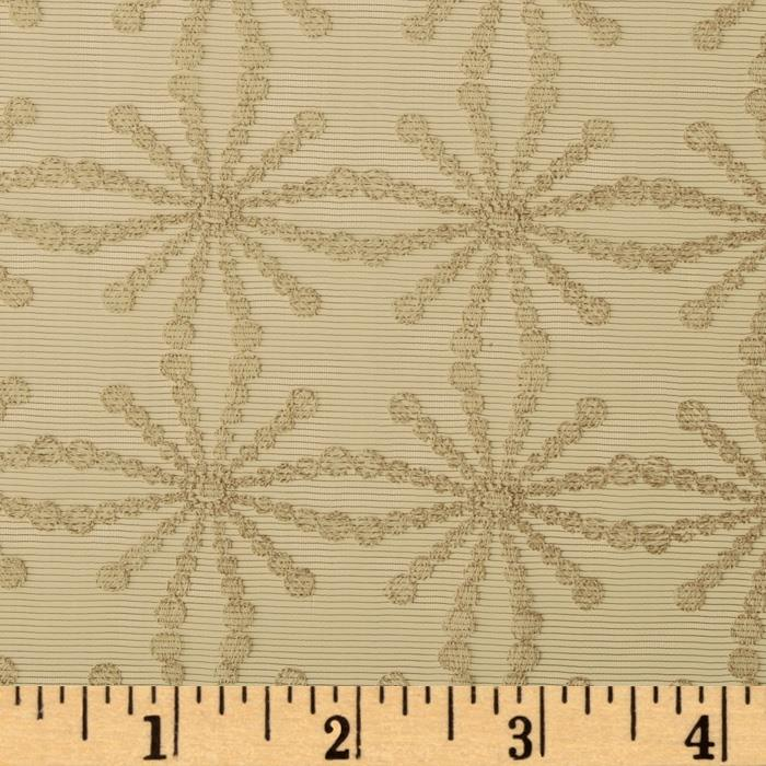 Robert Allen Promo Blinking Star Sheer Antique White