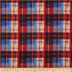 Fleece Plaid Red/Blue