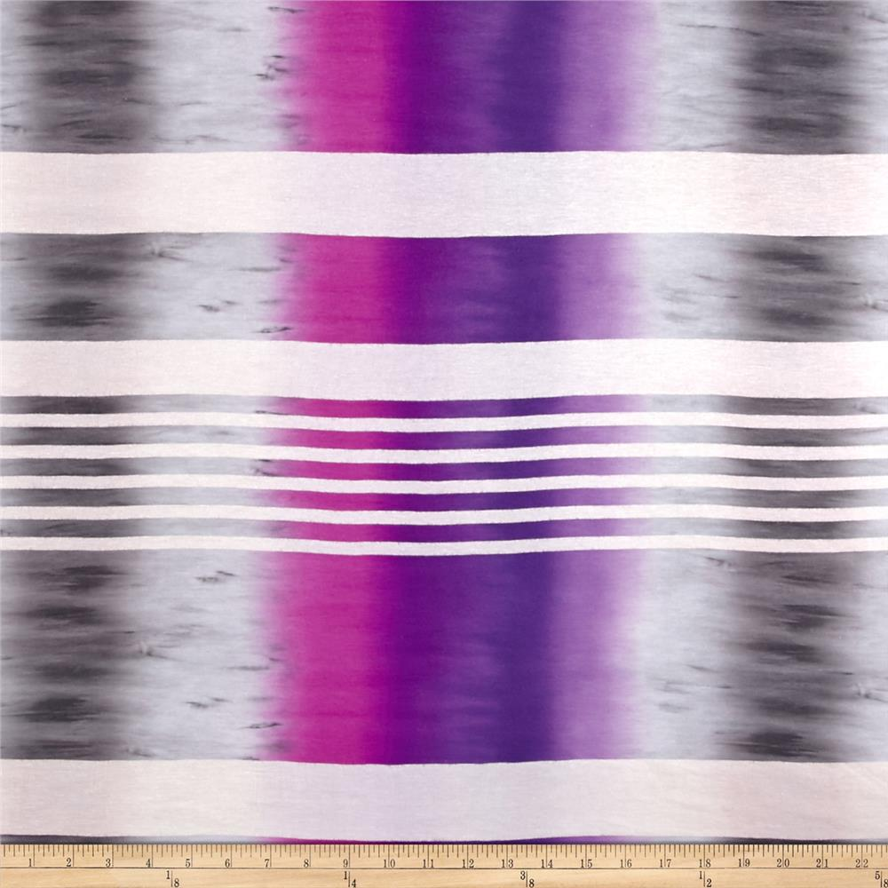 Jersey Knit Ombre Stripe Grey Purple