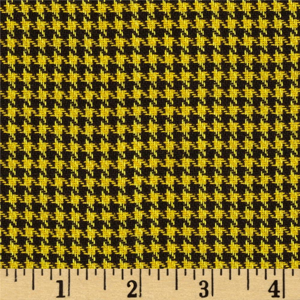 Small Woven Houndstooth Yellow/Black
