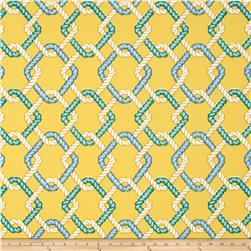 Tempo Indoor/Outdoor Nautical Rope Yellow Fabric